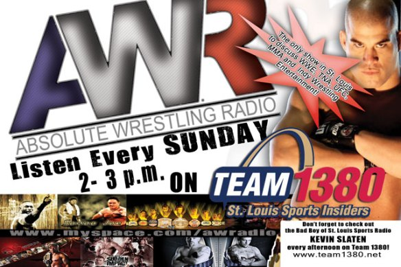 Absolute Wrestling Radio Promotional Flyer