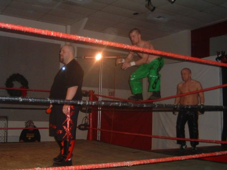 Shamus O'Flannery & Michael Morbid goes for a sneak attack on former LWA Champ Jordan Lacey