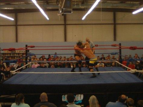 Dustin Lane and Brian Breaker start the action.