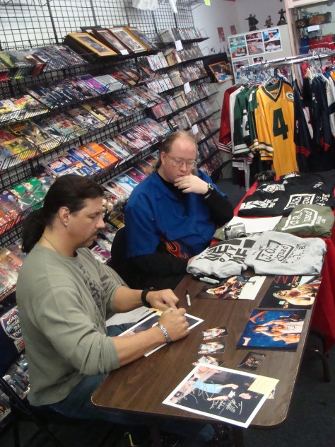 Inbetween signing autographs and memorabilia, Al Snow took time for an interview for Missouri Wrestling Revival before leaving The Fan Shop for the training seminar he conducted at Dynamo Training Gym located in St. Louis, MO.