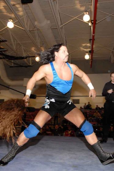 Al Snow full of energy before his match with Jeremy Wyatt- Photo Credit Steve Jones.