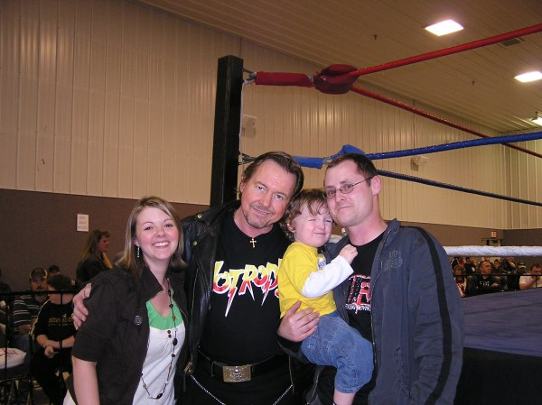 """""""Rowdy"""" Roddy Piper told me that I had a wholesome family and to cherish every minute with them.  I'm glad I took him up on his advice."""