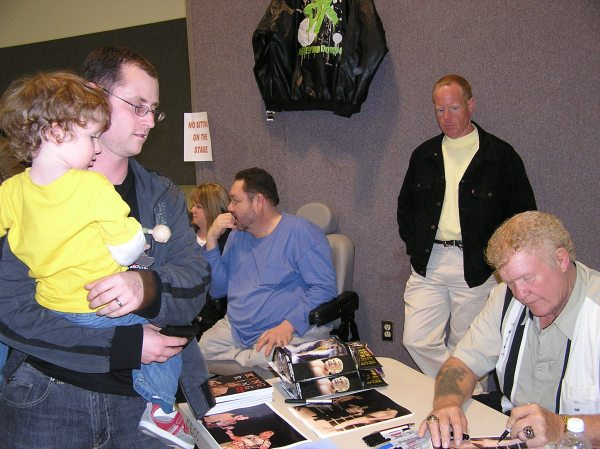 "Harley Race makes an autograph out to my son, Jalen.  Jalen said, ""thank you, Mr. Race"", which of course made me proud."