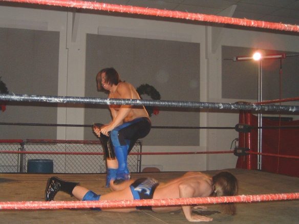 "Brandon has battled some of the best the Midwest has to offer, here he punishes Mark Sterling at LWA ( Photo Credit Brian ""Flair"" Kelley)"