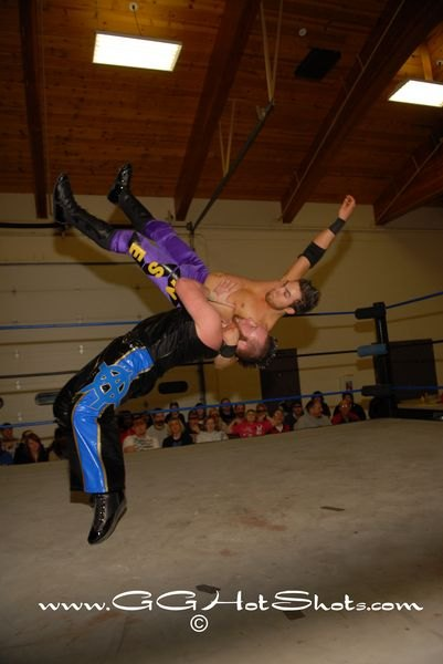 Arik Cannon hits Ryan Cruz with a powerful suplex- Photo Credit Gary Giaffoglione