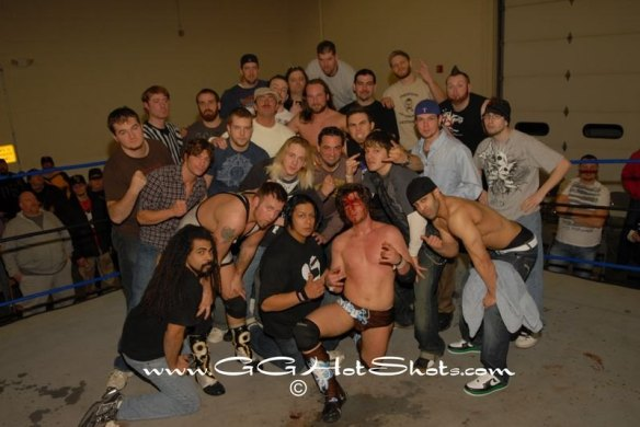 The talented PWP roster that thrilled the fans at PWP'S YEAR OF THE PHOENIX IV  poses for one great picture. (Photo Credit Gary Giaffoglione)