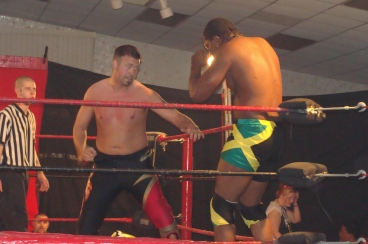 "Wyatt attacks Ruddick early to offset the power of ""The Future"" – Photo Credit Kari Williams"