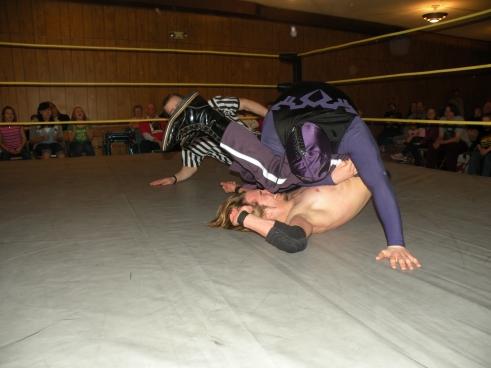 Gabriel Brimestone retains the MECW Independent Championship  (Photo Credit Brian Kelley)