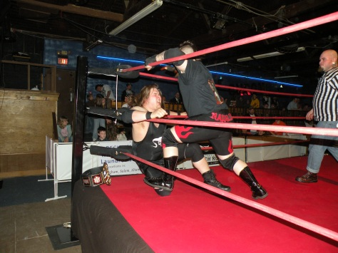Mephisto and Napalm go at it for the PWE US Title.
