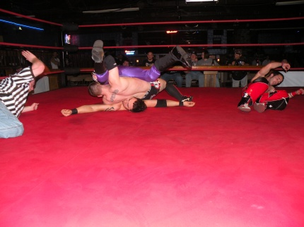 1-2-3 First ever PWE Tag Team Champions Zero Gravity