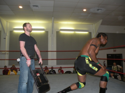 "Matt Krueger hits Donovan Ruddick with a chair. A move that Krueger would soon regret. (Photo Credit Brian ""Flair"" Kelley)"