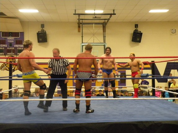 "For the WLW Tag Team Championship in Slater Missouri (Photo Credit: Brian ""Flair"" Kelley)"