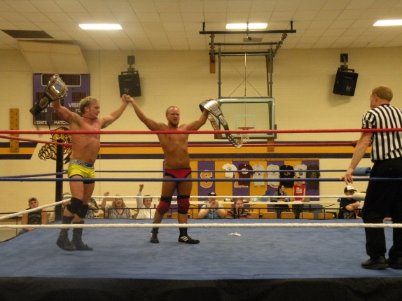 "Darin Waid & Dustin Lane remains the WLW Tag Team Champions.(Photo Credit: Brian ""Flair"" Kelley)"
