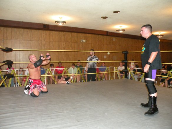 "Mannix begs for time from Brian Scrilla (Photo Credit Brian ""Flair"" Kelley)"