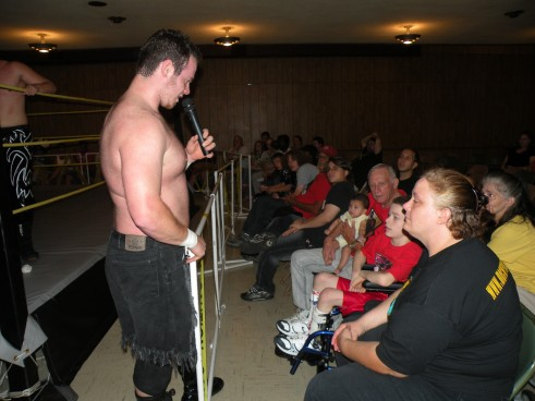 "Dawson retires from the ring and gives one of his biggest fans lil Ricky  ( Photo credit Brian ""Flair"" Kelley)"