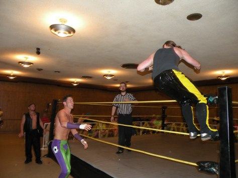 "MECW Champion Zach Thompson throws caution to the wind. ( Photo credit Brian ""Flair"" Kelley)"