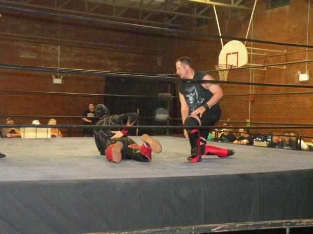 Domino Rivera stalks Super Electro (Photo Credit Dubray Tallman )