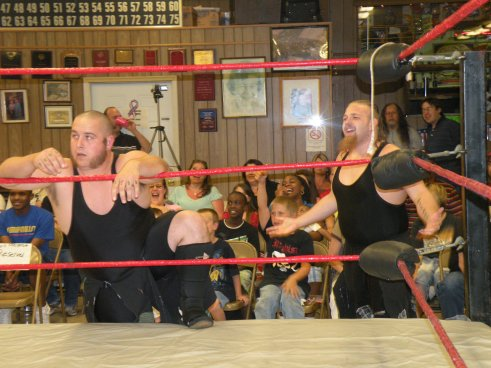 "One of the most entertaining tag teams in the Midwest today …The Hooligans (Photo credit Brian ""Flair"" Kelley)"