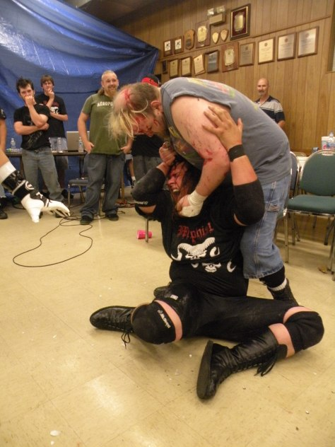"Rotten went after Mephisto full force and seemed to relish in providing Mephisto pain. (Photo credit Brian ""Flair"" Kelley)"