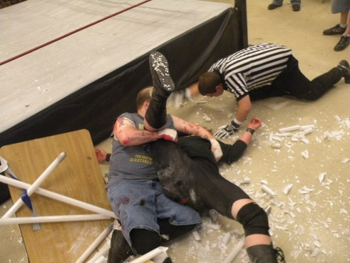 Rotten gets the pinfall much to the IHW fans dismay (Photo Credit Brian Kelley)