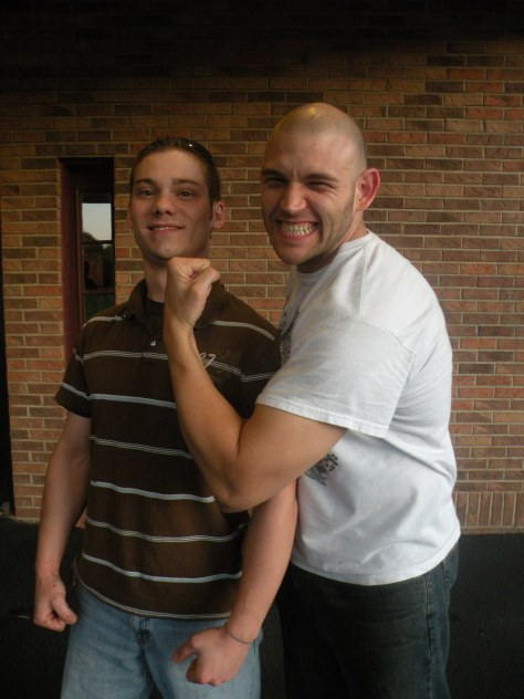 "Ryan Hughes with his favorite LWA Superstar Adam Raw (Photo Credit Brian ""Flair"" Kelley)"