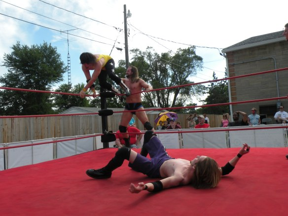 "Mathews thought he had Krotch where he wanted him till Sterling stopped him. (Photo Credit Brian ""Flair"" Kelley)"