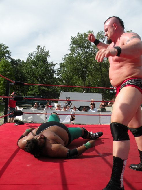 "Walker sizes up the Madman for a punishing blow (Photo Credit Brian ""Flair"" Kelley)"