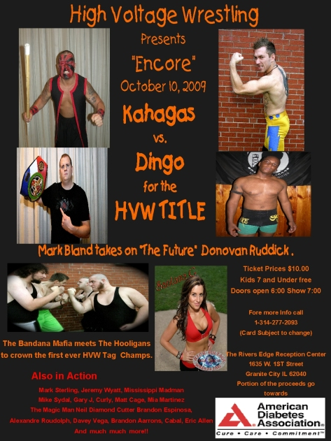 3 High Voltage Wrestling October 10th