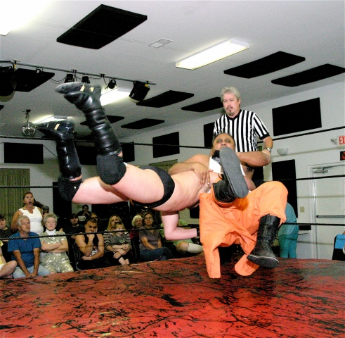 Vaughn nails the spear on the Champ.(Photo Credit Michael R Van Hoogstraat)