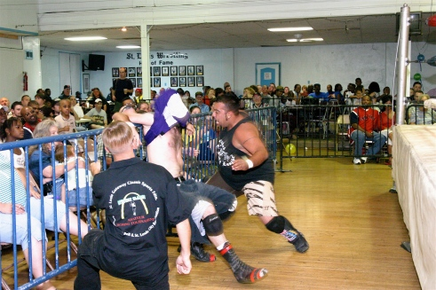 Core goes after newcomer Ziggy Bones with a vengeance.(Photo credit Michael R Van Hoogstraat)