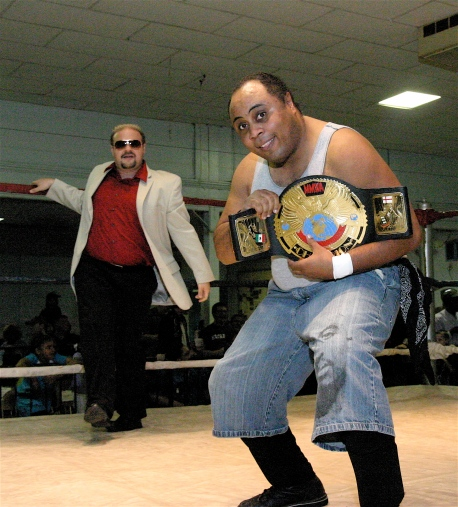 The Champ Phil E Blunt and Travis Cook has MMWA-SICW where they want them.  (Photo Credit Michael R Van Hoogstraat)