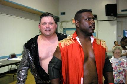 Fan favorites Gary Jackson & Keith Smith come to the ring.  (Recap by Michael R Van Hoogstraat)