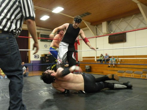 "Vega puts the boots to Crane.(Photo Credit Brian ""Flair"" Kelley)"