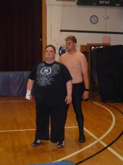 "The fans do not like the tag team of Gavin Alexander and Big Cody  (Photo Credit Brian ""Flair"" Kelley)"