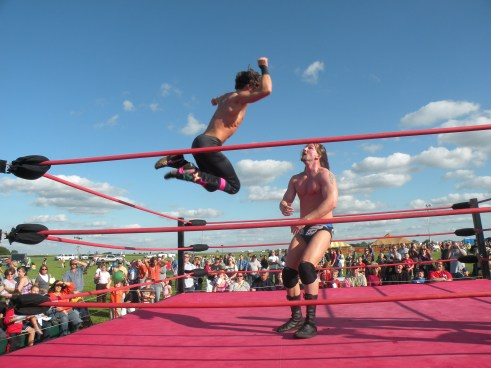 "This pictures shows you that Mike Sydal is one of the most exciting young wrestler in the Midwest in action (Photo Credit Brian ""Flair"" Kelley)"