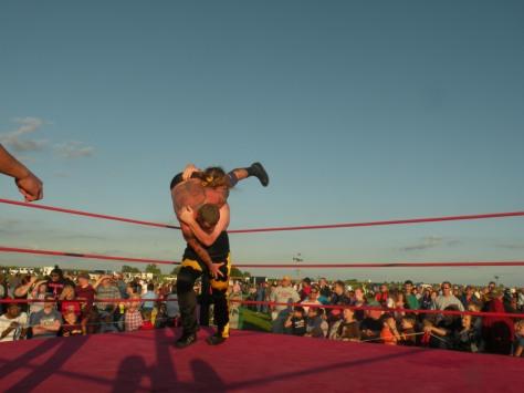 "Cabal powerslams Curly.(Photo Credit Brian ""Flair"" Kelley)"