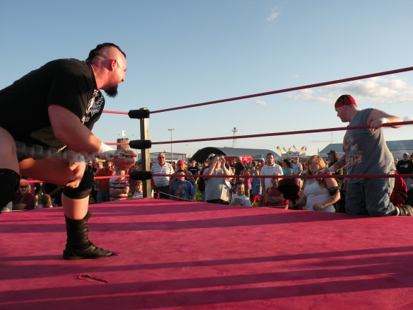 "Keith Walker tries to get in the head of Ian Rotten. (Photo Credit Brian ""Flair"" Kelley)"