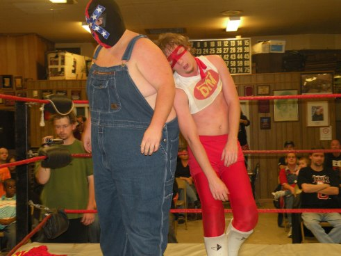 "The Dixie Land Destroyer helps his friend Dan the Man…just a little too late.(Photo Credit Brian ""Flair"" Kelley)"