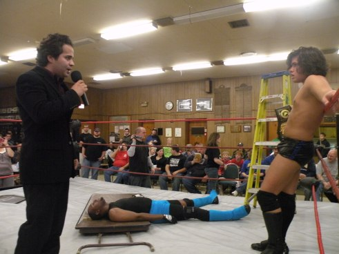 "Brandon Espinosa tells Aarons to forget the fans. (Photo Credit Brian ""Flair"" Kelley)"