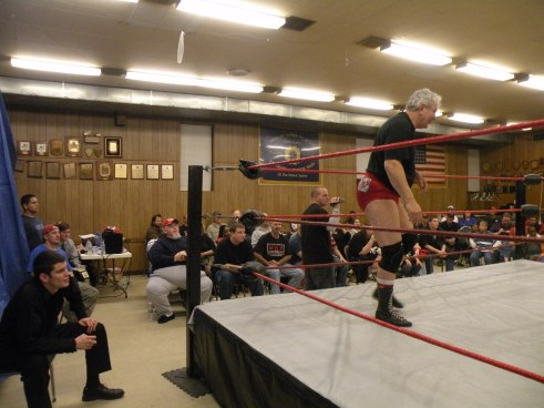 "Cowboy Bob Orton's son Nathan seconds his dad to the ring. (Photo Credit Brian ""Flair"" Kelley)"