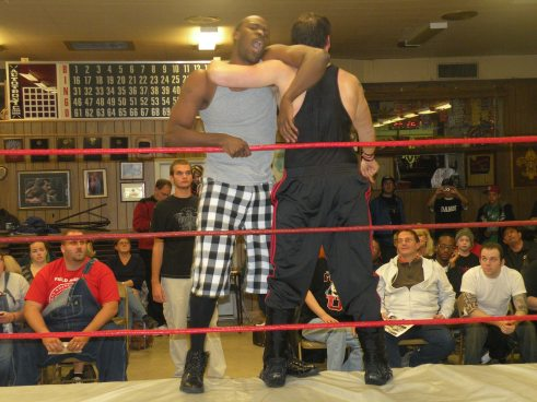 "Ian Storm and Shawn Almighty former partners go at it.(Photo Credit Brian ""Flair"" Kelley)"