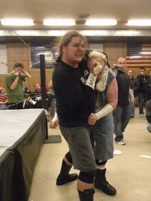 "Ian Rotten and Mephisto do not mess around with small talk…its all action(Photo Credit Brian ""Flair"" Kelley)"