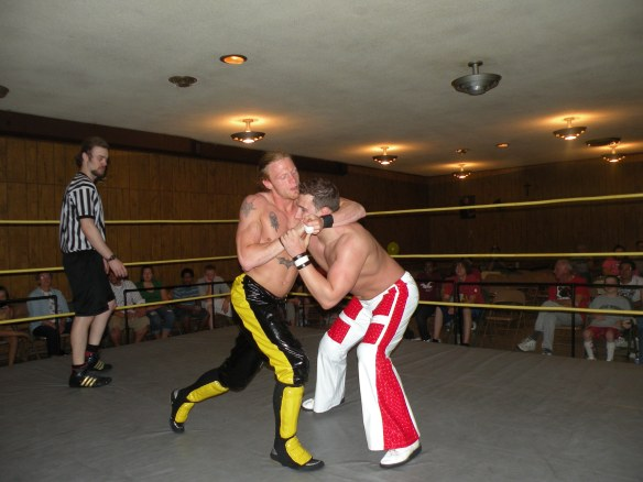 "The ""Unbreakable"" Zach Thompson slows down Jordan McEntyre (Photo Credit Brian ""Flair"" Kelley)"