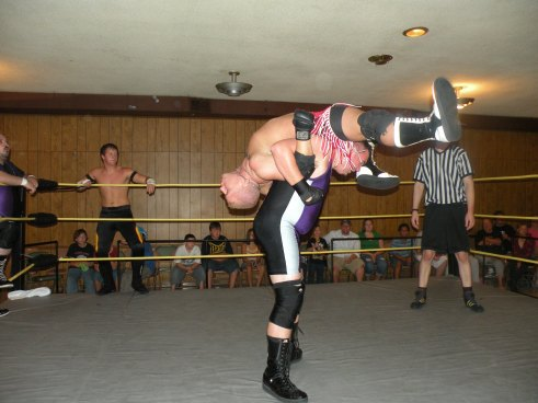 "Brian Scrilla has Bailey Mannix in a bad situation.(Photo Credit Brian ""Flair"" Kelley)"