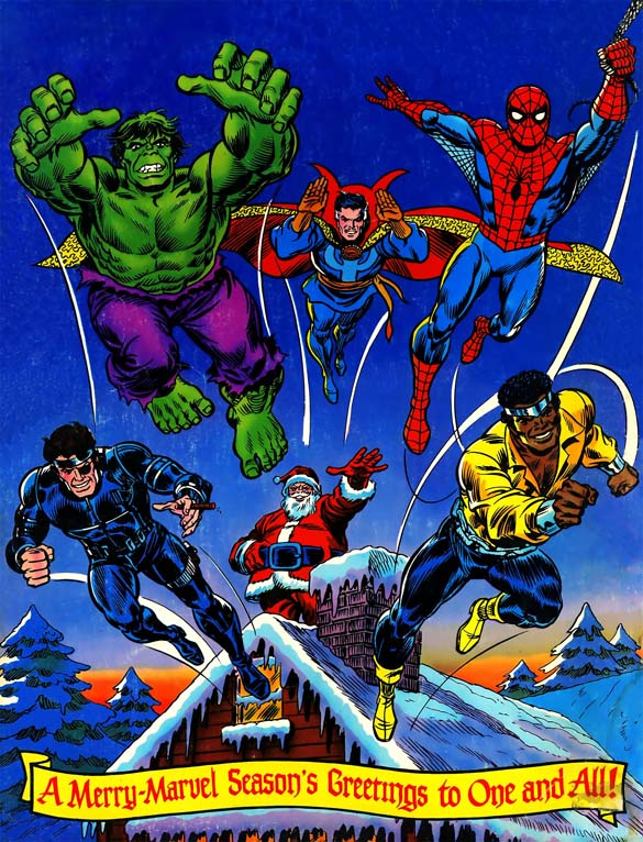 Image result for MERRY CHRISTMAS SUPER HERO""