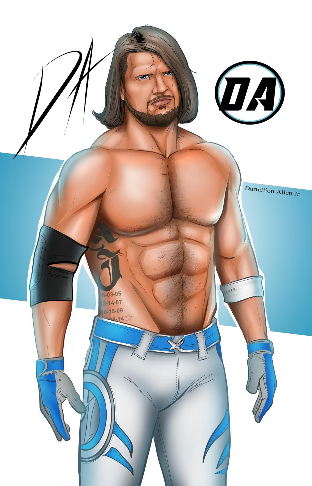 Dartallion allen jr top draw aj styles missouri for Aj styles coloring pages